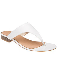 Patent slide sandal by LANE BRYANT