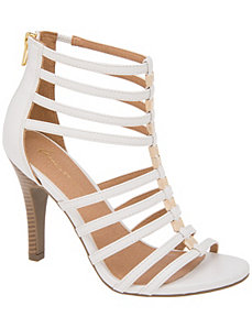 Caged heeled sandal by LANE BRYANT