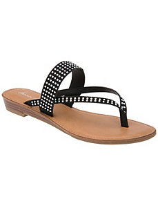 Embellished two strap sandal