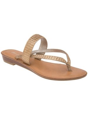 Embellished two strap sandal