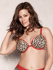 Solid & animal print reversible plunge by Cacique