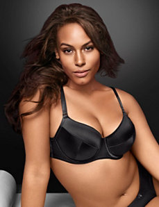 Satin push up balconette bra by LANE BRYANT