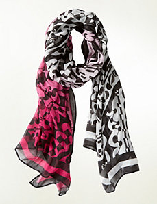 Graphic scarf by Isabel Toledo