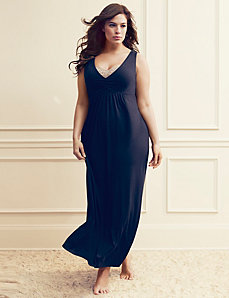 Tru to You lace trim sleep maxi by LANE BRYANT
