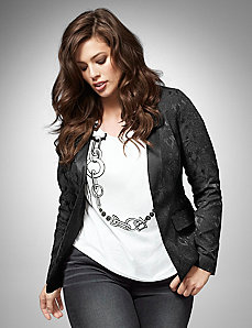 Stretch jacquard jacket by LANE BRYANT