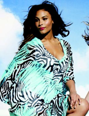 Tropical zebra swim cover up dress