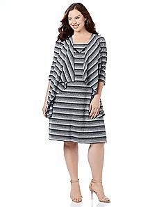 Ombre Stripe Jacket Dress