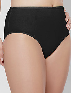 Stretch cotton high-leg panty