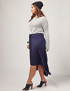Draped Jersey Skirt by OTIS