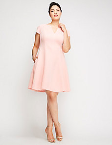 Short-Sleeve Fit & Flare Dress by Julia Jordan