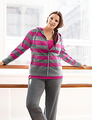 Striped active hoodie