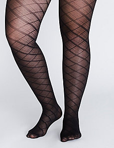 Plaid control top tights