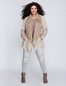 Long shearling jacket