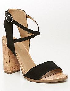 Cork Heel City Sandal