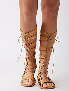 Tall gladiator sandal