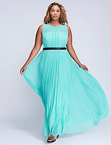 Pleated Skirt Gown by ABS Allen Schwartz