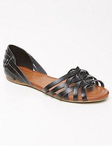 Woven huarache sandals