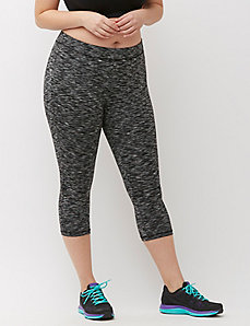 Wicking Space Dye Capri Legging