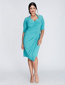 Foxfire faux wrap dress by Kiyonna