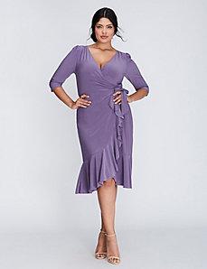 Whimsy wrap dress by Kiyonna