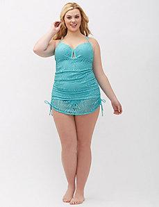 Crochet Drawstring Swim Skirt