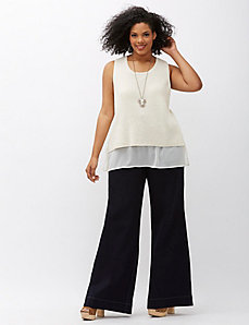 6th & Lane Wide Leg Trouser Jean
