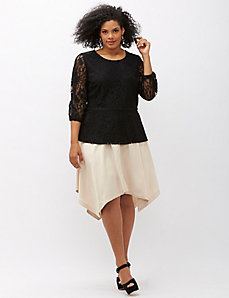 6th & Lane Lace Peplum Top