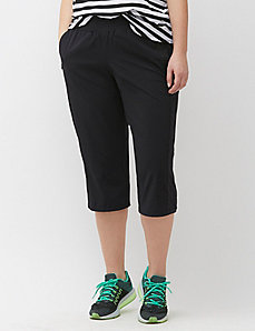 Performance Stretch Woven Capri with Mesh Inset