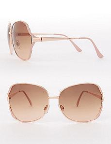 Pink and Goldtone Aviator Sunglasses