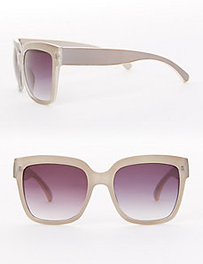 Oversized Sunglasses with Goldtone Trim