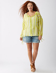 Chiffon Ladder Stitch Artist Top