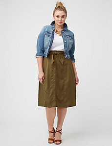 Button-front skirt