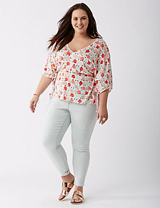 Exaggerated V-Neck Top