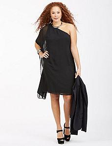 One-Shoulder Drape Dress