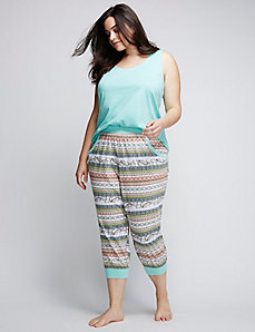 Cropped Jogger Sleep Pant