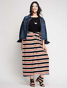 Simply Chic Ruched-Waist Maxi Skirt