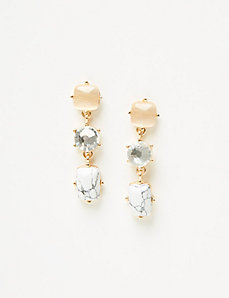 3-Stone Drop Earrings