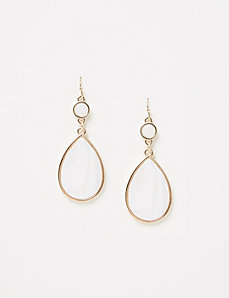 White Shell Drop Earrings