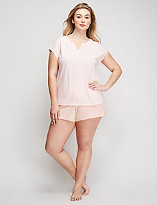 Cotton Sleepshirt and Short PJ Set