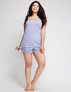 Sleep Tank with Lace Inset