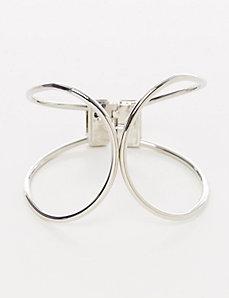 Oversized Dual Band Hinge Bracelet