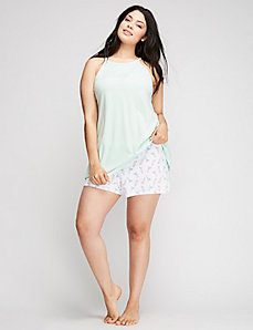 High-Neck Cami & Short PJ Set