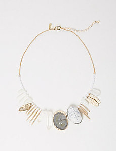 Stone & Stick Statement Necklace