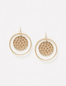 Disc and Circle Earrings