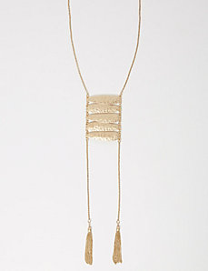 Y Necklace with Tassels