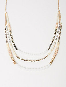 3-Row Tonal Beaded Necklace