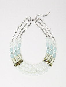 3-Row Multi-Bead Necklace