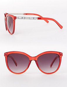 Red Sunglasses with Jeweled Arms