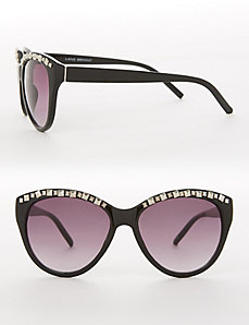 Studded Brow Cateye Sunglasses