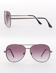 Glitter Aviator Sunglasses